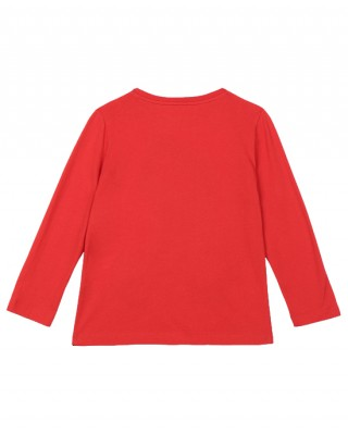 STELLA MCCARTNEY Long sleeve T-shirt with a colorful horse