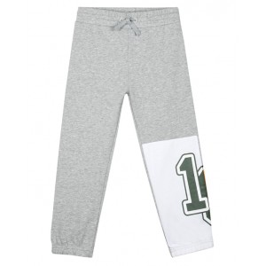 Grey track pants with a print