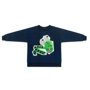STELLA MCCARTNEY KIDS Baloon snake print T-shirt