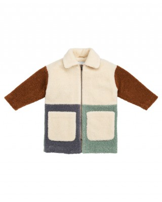 STELLA MCCARTNEY KIDS Teddy Patchwork Coat