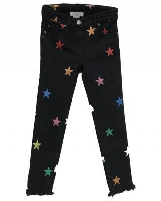 Glitter stars denim jeans