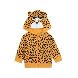 Cheetah dots cotton hoodie