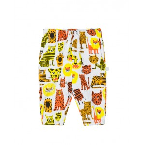 Joggers with wild cats print