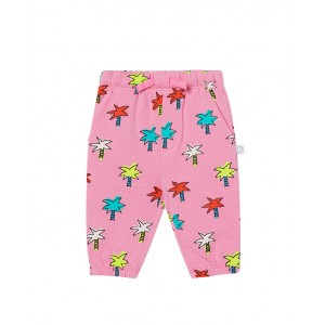 Joggers with multicolored palms print