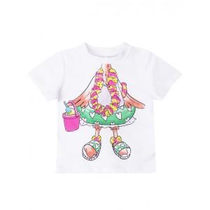 Flamingo body print t- shirt