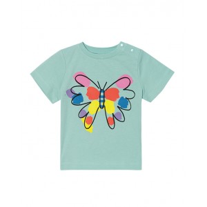 Mint tee with butterfly print