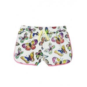 All-over butterflies print shorts