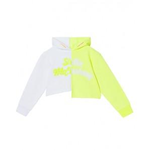 Asymmetrical neon- green hoodie