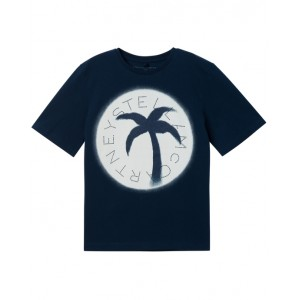 Navy blue T-Shirt with palm print