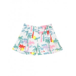 Cotton shorts with palm print