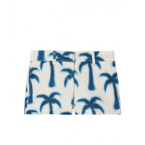 Blue palms print shorts