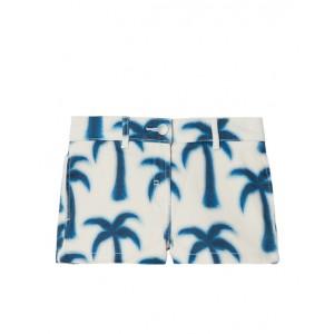 Blue palms print shorts