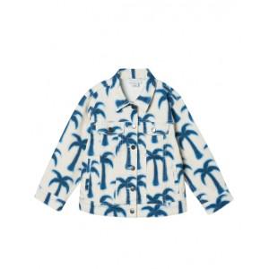 Blue palms denim jacket
