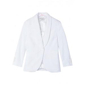 Cotton-piqué suit jacket