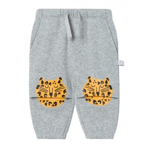 Joggers with leopard print