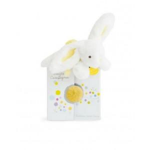 Doudou Coucou Yellow Rabbit
