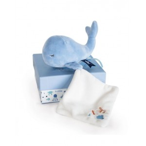 DOU DOU Cute whale plush with soft toy