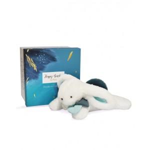 DOU DOU Bunny with blue-colored pompom