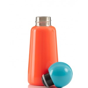 Coral and sky blue skittle bottle mini